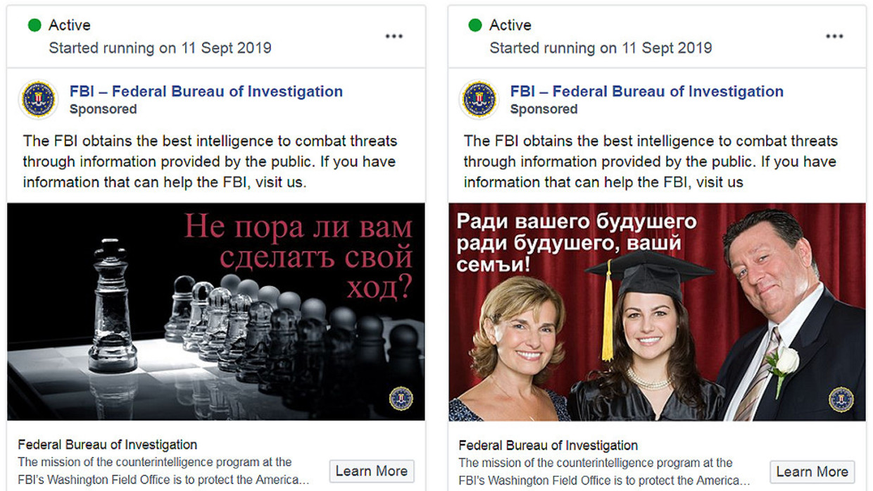 For futur of you're famly': FBI seeks to recruit 'Russian