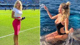 'Get them out!' Italian football fans beg journalist to flash – and she has the ideal response (VIDEO)