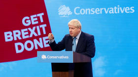 'Pizza wheel of doom': BoJo delivers 'flat' speech, but doesn't miss chance to hit out at UK MPs in Tory conference