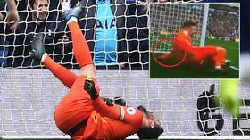 Hugo horror: Spurs goalkeeper Lloris suffers gruesome arm injury after committing howler vs Brighton