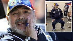 Dance like Diego: Maradona celebrates first win as Gimnasia boss with dressing room boogie (VIDEO)