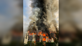 Enormous blaze breaks out at business hub in eastern France, 100 firefighters deployed (VIDEO, PHOTOS)