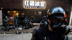 Apple removes app that Hong Kong protesters used to track police movements following vandalism, attacks on officers