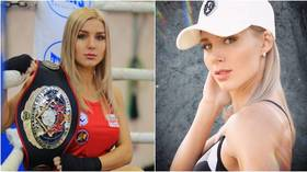 Russian ice hockey host proclaims herself 'the sexiest in the KHL' – but she faces some red-hot competition... (PHOTOS)