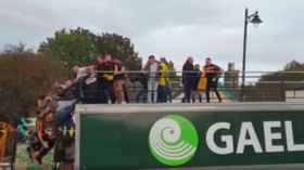 Irish sports team miraculously avoid tragedy in shocking celebration accident (GRAPHIC VIDEOS)