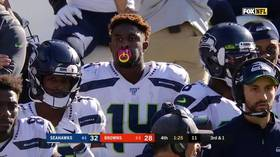 Child's play: NFL star DK Metcalf wears 'pacifier' mouthguard in Seahawks' win over Browns