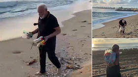 VIDEO of Indian PM Modi plogging at the beach before second day summit with China's Xi goes viral