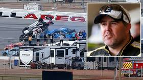 'Mother, it's OK. It's just a flip!' NASCAR driver Brendan Gaughan gives ice-cool interview after Talladega horror smash (VIDEO)