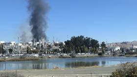Massive explosion & fire at California NuStar refinery triggers 'hazardous materials emergency' (VIDEOS)