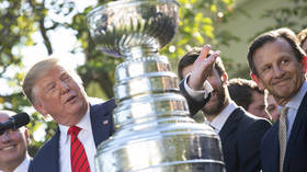 'Sold at $65,000': Donald Trump 'buys' Stanley Cup during St. Louis Blues White House visit (VIDEO)