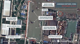 Hull for China's 3rd aircraft carrier may be finished in 12 months, satellite PHOTOS of shipyard indicate