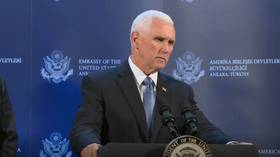 Mike Pence speaks in Ankara during US delegation visit to Turkey