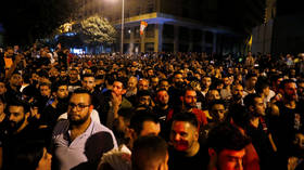 PM Hariri cancels cabinet meeting as protests over economic crisis sweep Lebanon for 2nd day