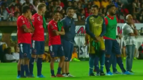 WATCH: Bizarre scenes as Mexican football team concede two goals while standing motionless in protest at unpaid wages