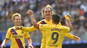 Watch the goals as Griezmann, Messi & Suarez all get on scoresheet for Barcelona for first time (VIDEO)