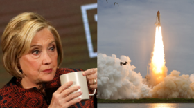 Did NASA even exist then? Clinton lampooned for claiming space agency ENDED her childhood dreams of becoming astronaut