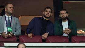 'The Eagle' has landed: UFC champion Khabib Nurmagomedov spotted at Galatasaray-Real Madrid Champions League game