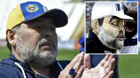 'Horrible': Gimnasia fans horrified as club unveils eerie Diego Maradona mascot (PHOTO)