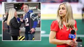 'I was P*SSED!' Female sports reporter ducks NFL fan who tried to KISS her during interview (VIDEO)