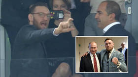 The Eagle & The GOAT - Khabib cheers on friend Ronaldo at Lokomotiv v Juventus game in Moscow