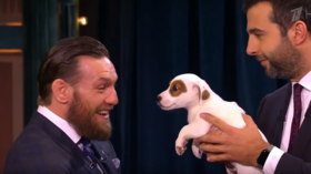 Conor McGregor shows softer side as UFC star faces off against furry rivals on Russian talk show (VIDEO)