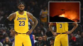 Basketball star LeBron James forced to flee home as California wildfires rage