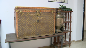 Posh country life: Elderly couple from Ukraine used VINTAGE LOUIS VUITTON trunk to STORE CORN, not knowing it was worth a fortune