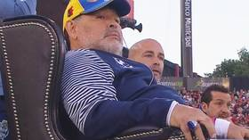 Watch the Throne: Diego Maradona receives hero's welcome as Gimnasia thrash former team Newell's Old Boys (VIDEO)