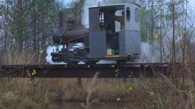 The little Russian engine that could: Villager spends decade building own railway, complete with steampunky locomotive (VIDEO)