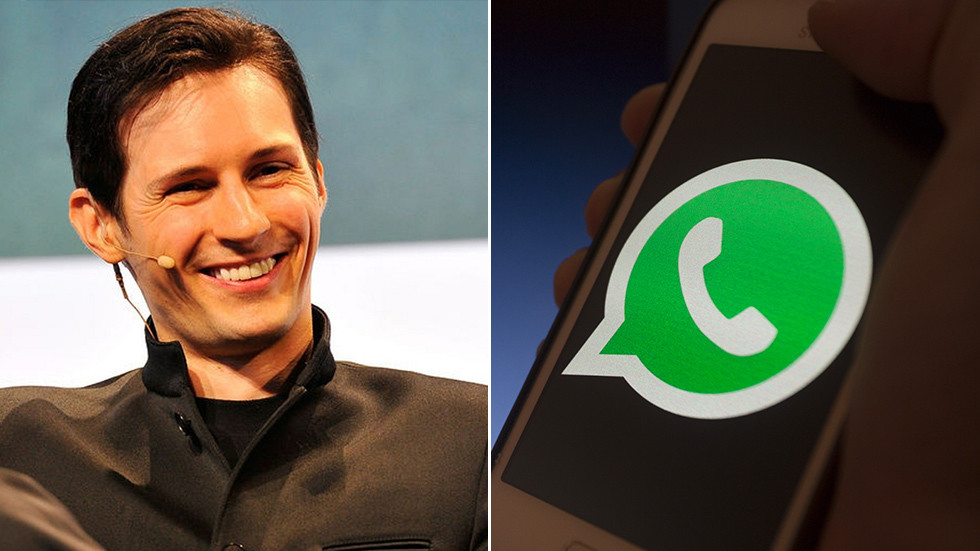 'Delete WhatsApp unless you're OK with surveillance,' founder of rival Telegram messenger warns