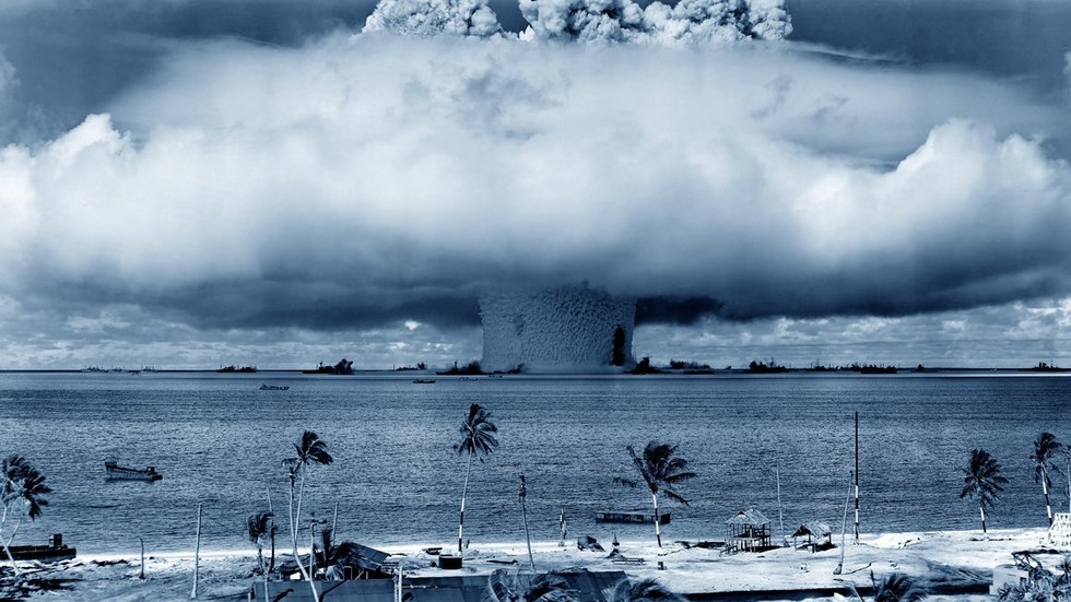 A explosão teria sido semelhante a esta ... se tivesse realmente acontecido.