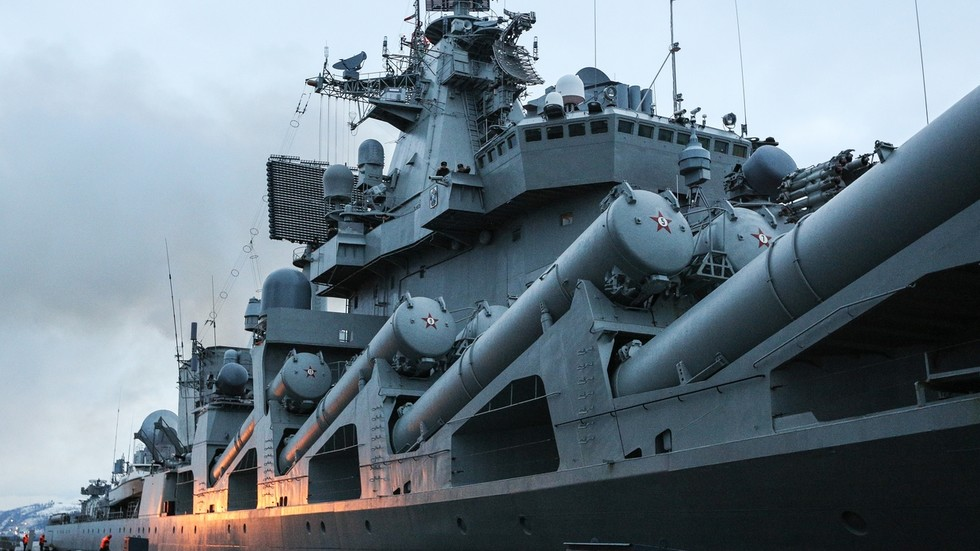 Russian Warship Marshal Ustinov Arrives In Cape Town For