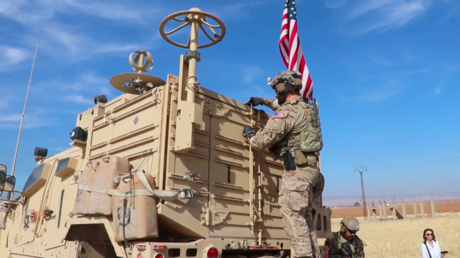 US troops spotted near oil facility in north-east Syria November 3, 2019