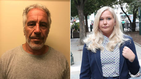 Jeffrey Epstein; (R) Virginia Roberts (Giuffre) © Reuters / New York State Division of Criminal Justice Services and Shannon Stapleton