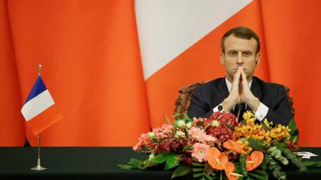 FILE PHOTO: French President Emmanuel Macron.
