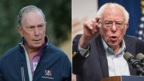 (L) Michael Bloomberg © Reuters / Brendan McDermid; (R) Bernie Sanders © Global Look Press / Jack Kurtz
