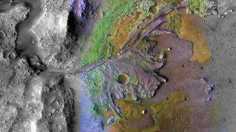 The Jezero Crater as pictured by instruments on NASA's Mars Reconnaissance Orbiter. © NASA/JPL-Caltech/ASU