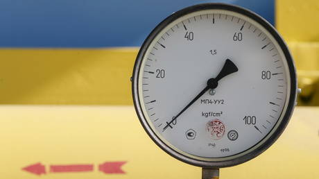 FILE PHOTO: A pressure gauge at a gas compressor station in the village of Mryn, Ukraine © Reuters / Gleb Garanich