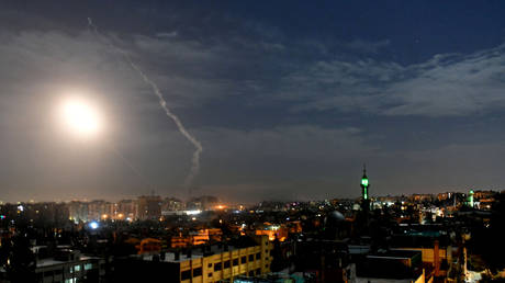 Missile fire over Damascus, Syria (FILE PHOTO)