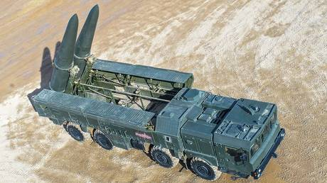 FILE PHOTO Mobileshort-range ballistic missilesystem Iskander © Sputnik / Alexey Kudenko