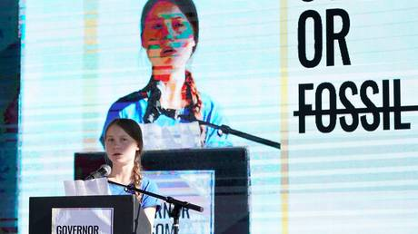 Swedish teen climate activist Greta Thunberg. © Reuters /  Mike Blake