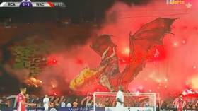 Tifo to end all tifos: Moroccan fans produce insane dragon display for Casablanca derby (VIDEO)