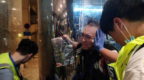 6 wounded incl. attacker in Hong Kong mall stabbing, reportedly sparked by political argument (PHOTOS)