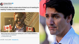 'Woke' college kids can't take a joke? Black student kicked from meeting for wearing Justin Trudeau blackface costume