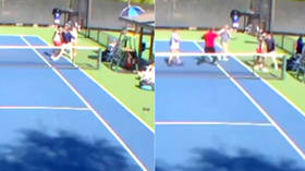 No love lost: Female tennis players BRAWL on the court over harsh post-match handshake (VIDEO)