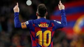 Hat-trick hero: Majestic Lionel Messi hits TWO free-kicks in 25-minute treble against Celta Vigo (VIDEO)