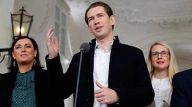 Austria's Kurz backs formal coalition talks with Greens