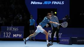 False start: Stefanos Tsitsipas downs Russia's Daniil Medvedev in ATP Finals opener
