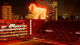 Greatest football display ever? Argentinian club use jaw-dropping giant holographic lion to mark return to stadium (VIDEO)