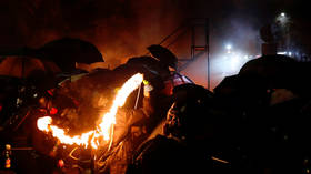 Battleground Hong Kong: Rioters armed with catapults & javelins destroy university campuses & metro stations, clashing with police